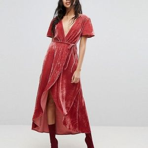 NWT Asos Velvet Maxi Dress